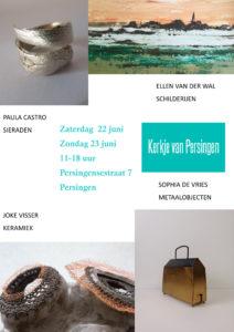 Flyer expositie Kerkje van Persingen juni 2019